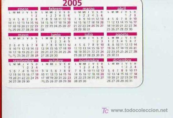 calendario bolsillo 2005 calcinatal 1 primido dia x