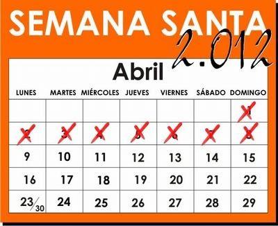 semana santa colombia 2012 calendario