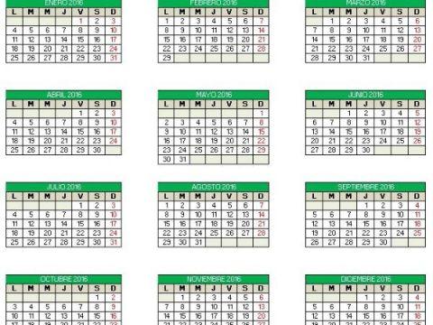 Calendario 2016 Excel Mejores Y Más Novedosos Calendario 2016 Editable En Excel Para Imprimir
