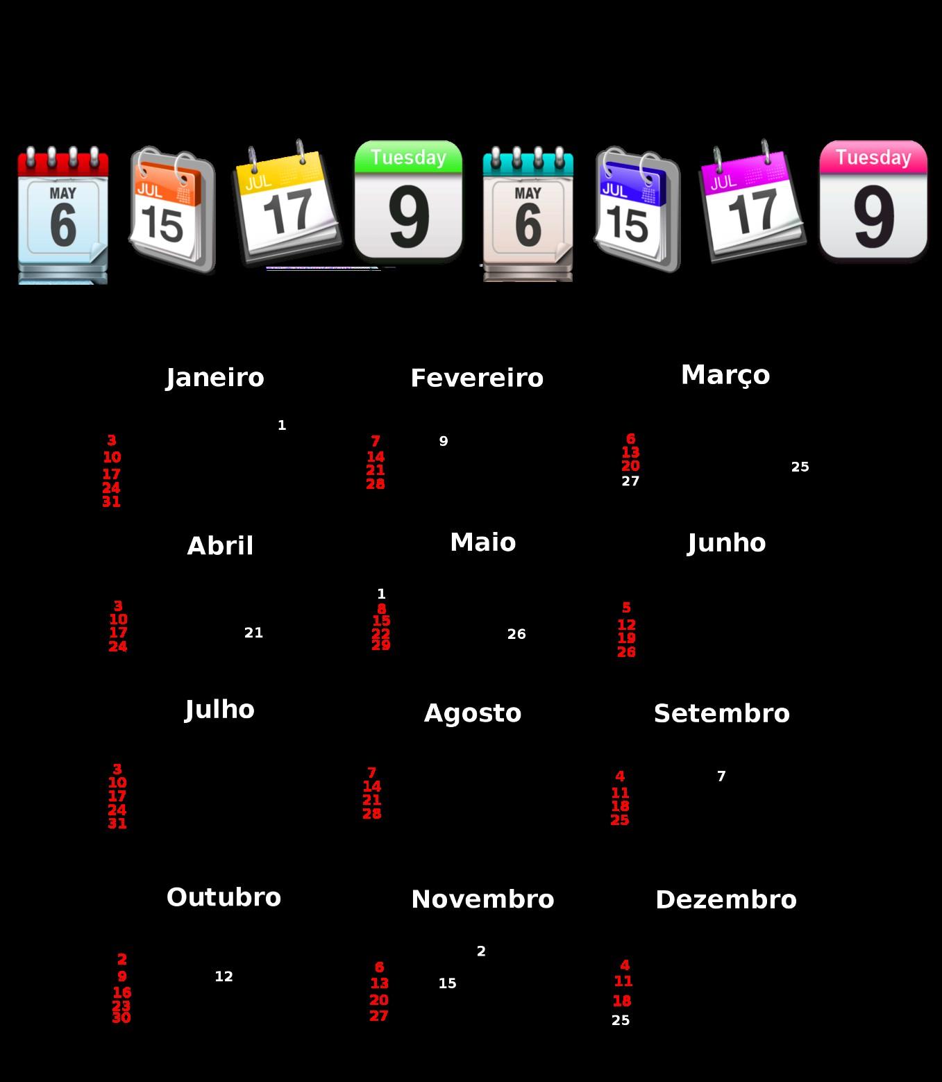 calendario 2016 feriados sp