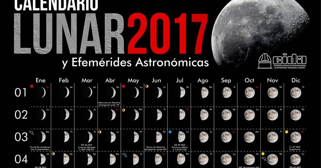 calendario lunar 2017 del centro de
