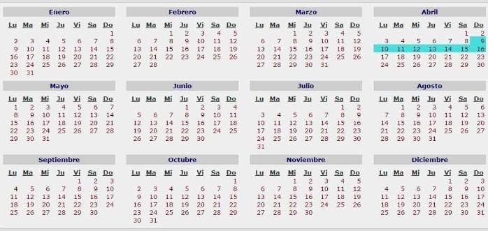 Semana Santa 2017 En que fecha caera 0187