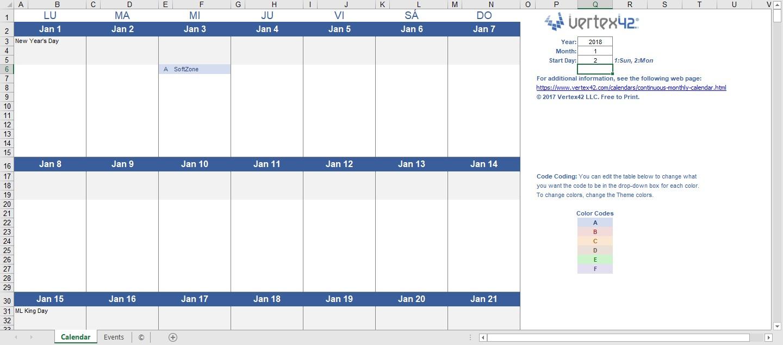 plantillas calendario office