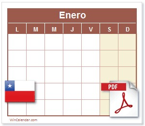 Calendario 2018 Chile Feriados PDF