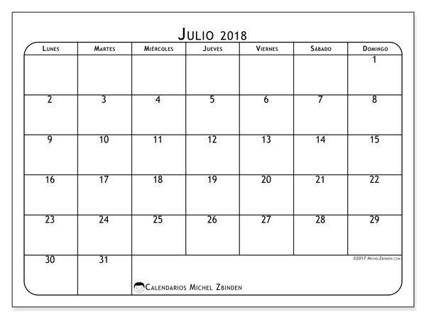 julio 2018 calendario 16 7