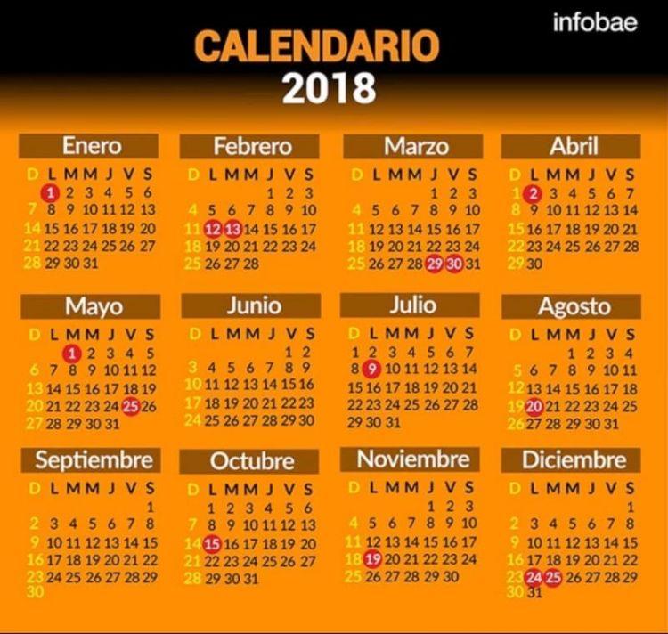 Calendario 2018 Semana Santa Más Arriba-a-fecha Feriados Y Fines De Semana Largos 2018