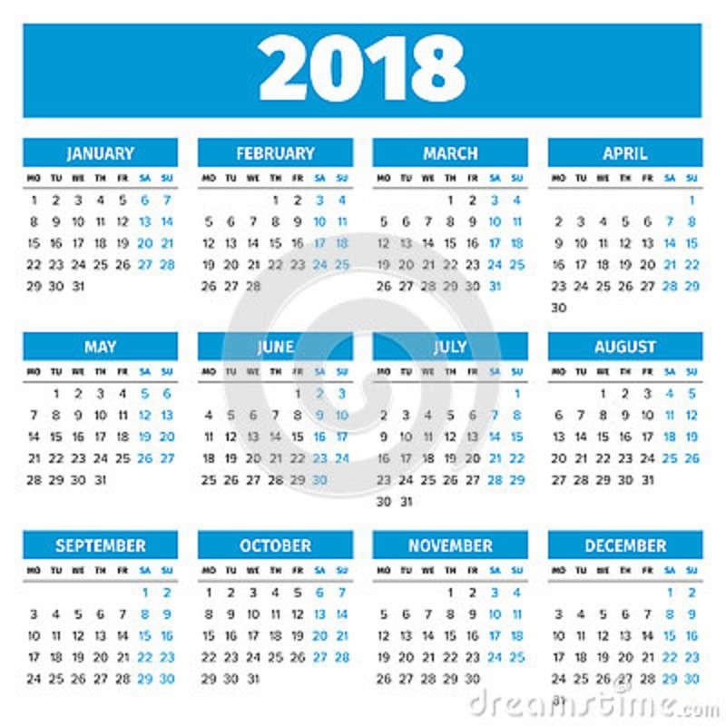 stock de ilustración calendario simple de años image