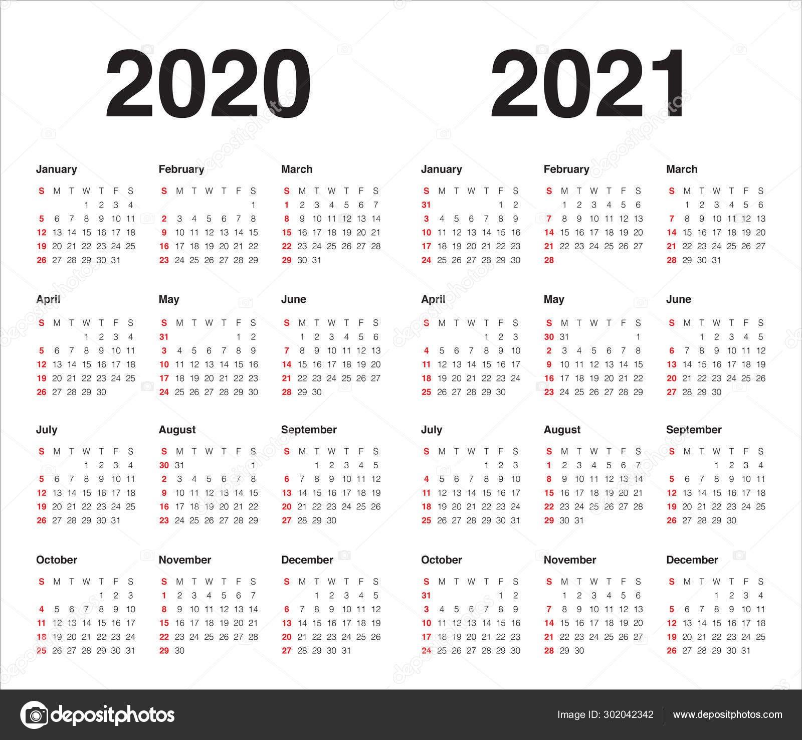 stock illustration year 2020 2021 calendar vector