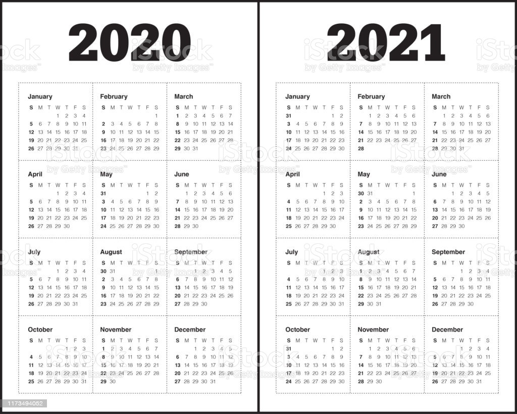 year 2020 2021 calendar vector design template gm