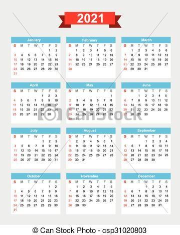 semana incio calendário 2021