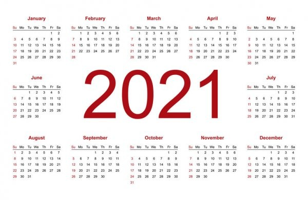 stock illustration 2020 calendar english year 2020