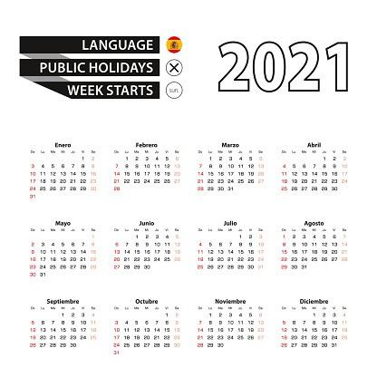 Calendario 2021 En Español Más Populares Ilustración De Calendario 2021 En Español La Semana