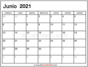 junio calendario 2021