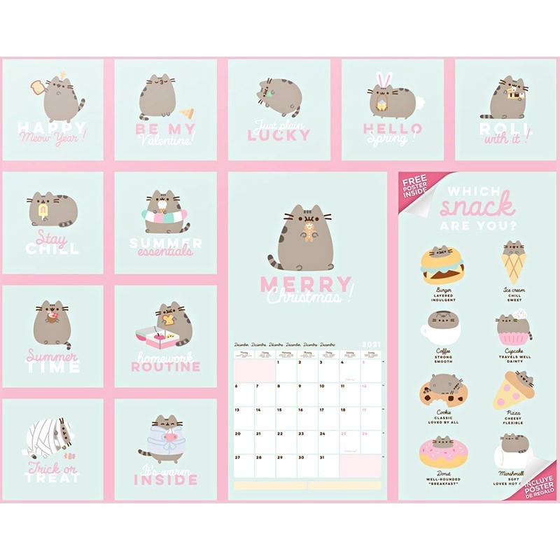 calendario pared 2021 pusheen sweet dreams