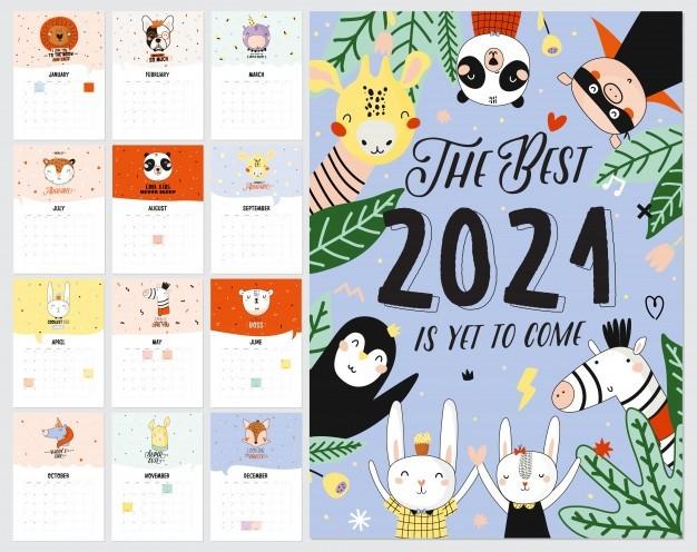 calendario pared planificador anual 2021 todos meses buen organizador escolar horario lindo fondo interior casa letras citas motivacionales