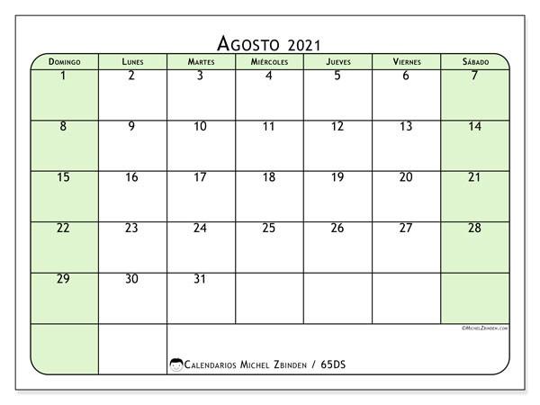calendarios para imprimir 2021 ds