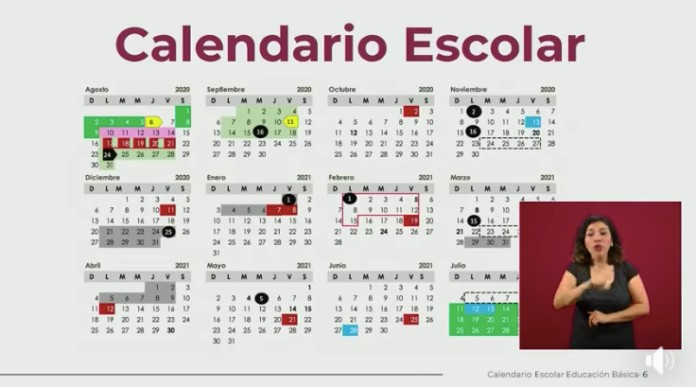 presentan calendario escolar 2020 2021 sep