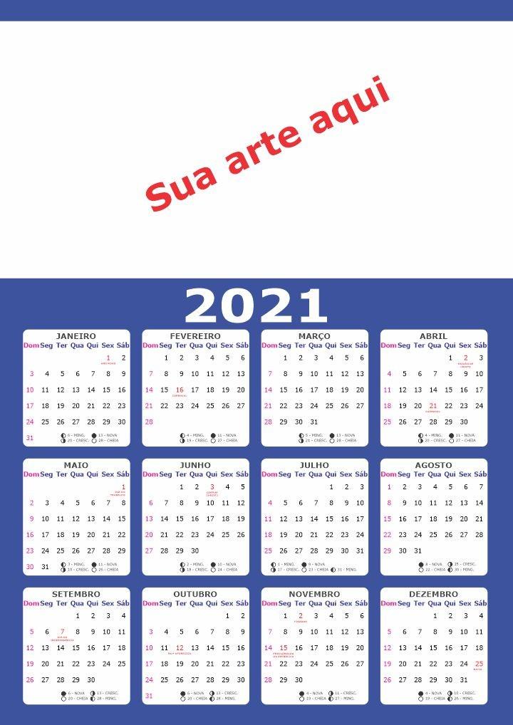 Calendario 2021 Para Editar Más Actual Calendário 2021 Folha A3 Para ércio Em Geral Arte
