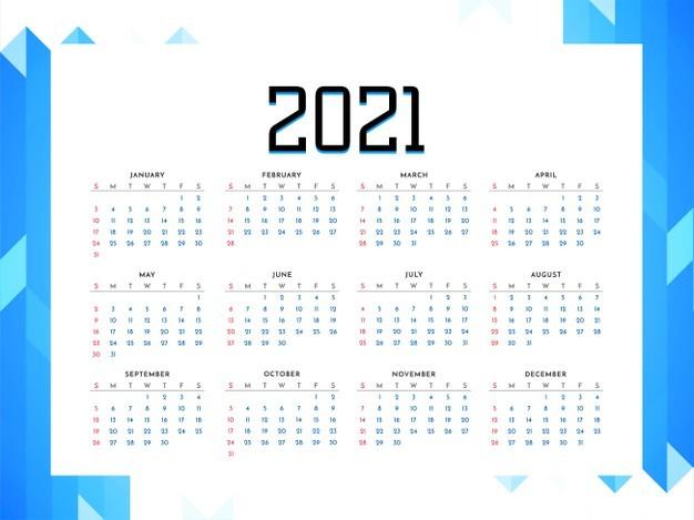 vector diseno estilo empresarial calendario 2021 anos