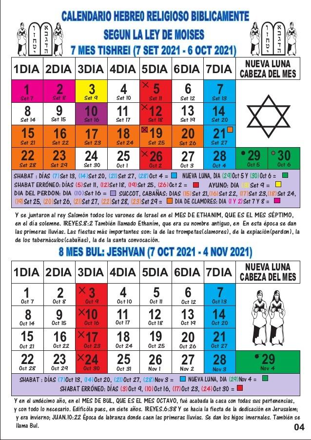 Calendario 2021 Religioso Más Arriba-a-fecha Calendario Hebreo Religioso 2021