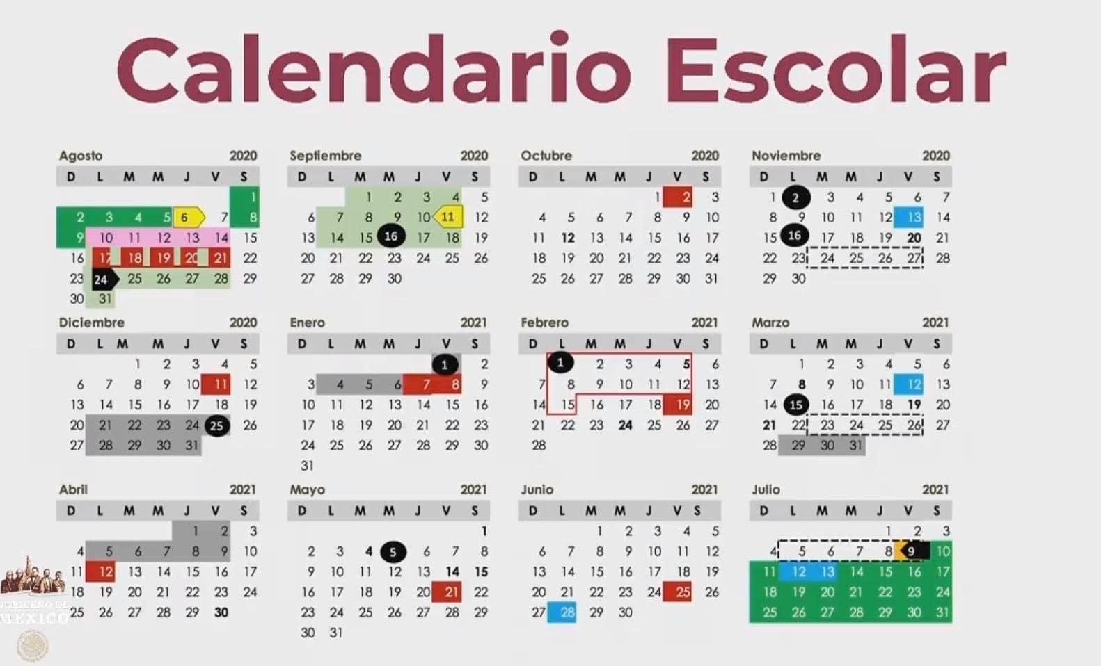 presenta sep calendario escolar para el ciclo 2020 2021