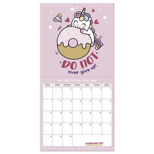 calendario 2021 30x30 unicorn