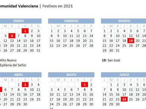 Calendario 2021 toledo Más Reciente Calendario Laboral 2021 En La Unidad Valenciana
