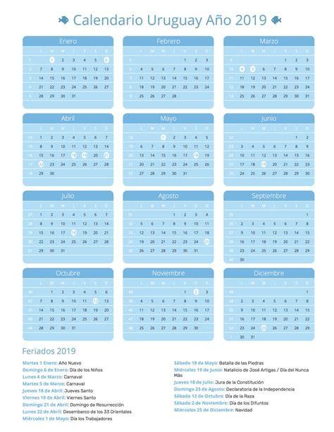 calendario 2020 uruguay
