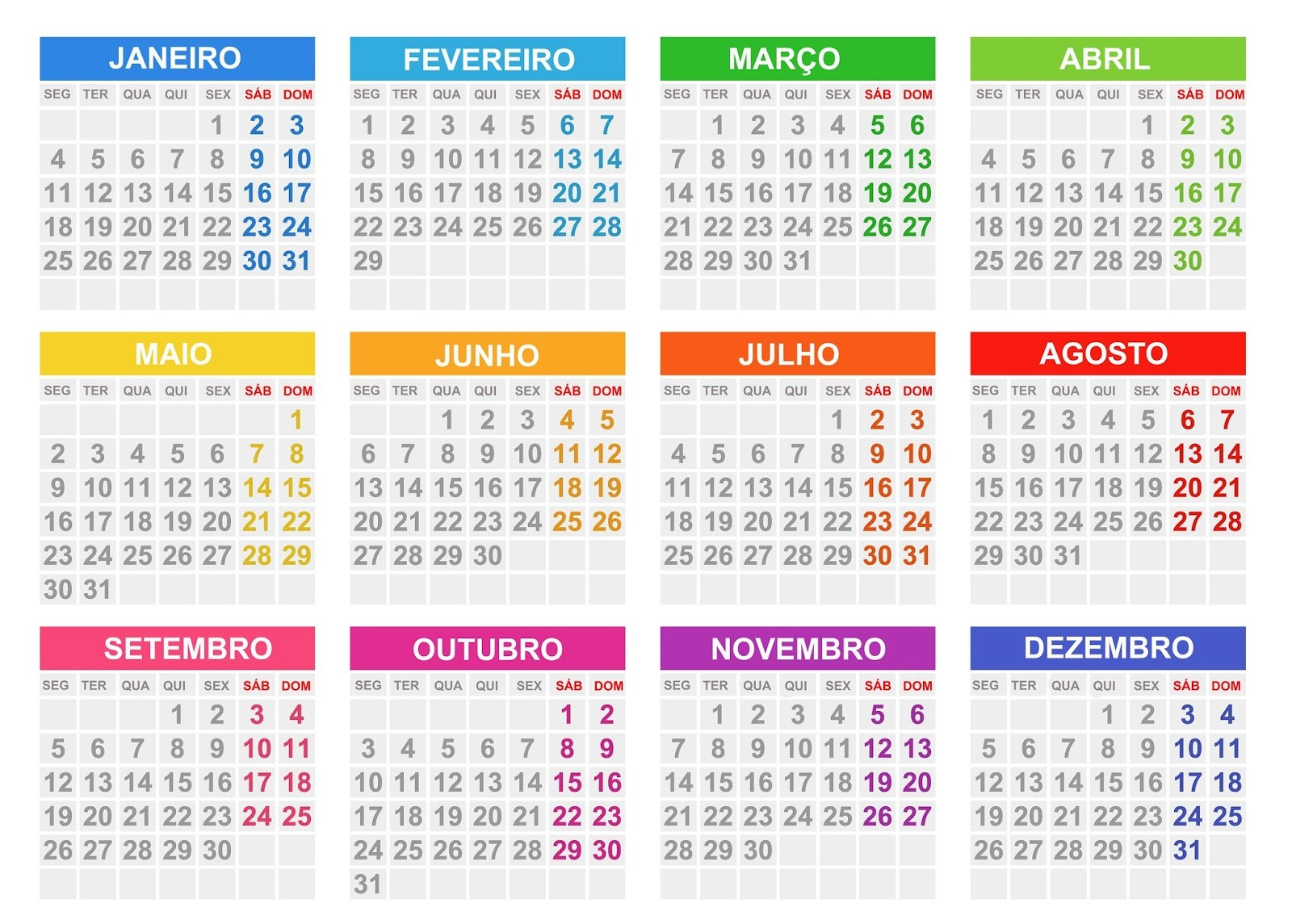 calendario 2020 para imprimir webcid