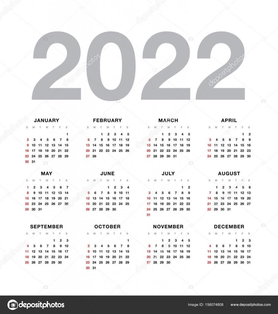 stock illustration wall calendar 2022 year design