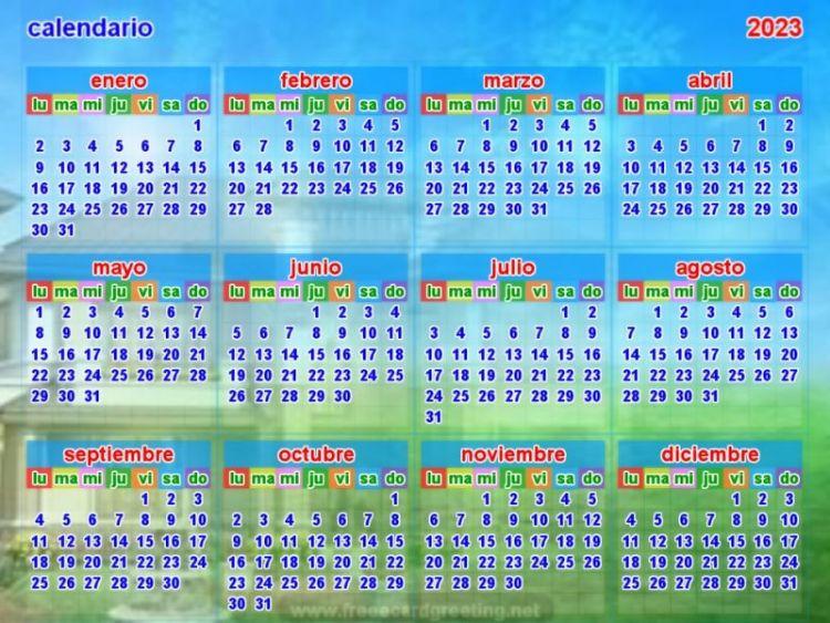 Calendario 2023 Mejores Y Más Novedosos Calendario 2023