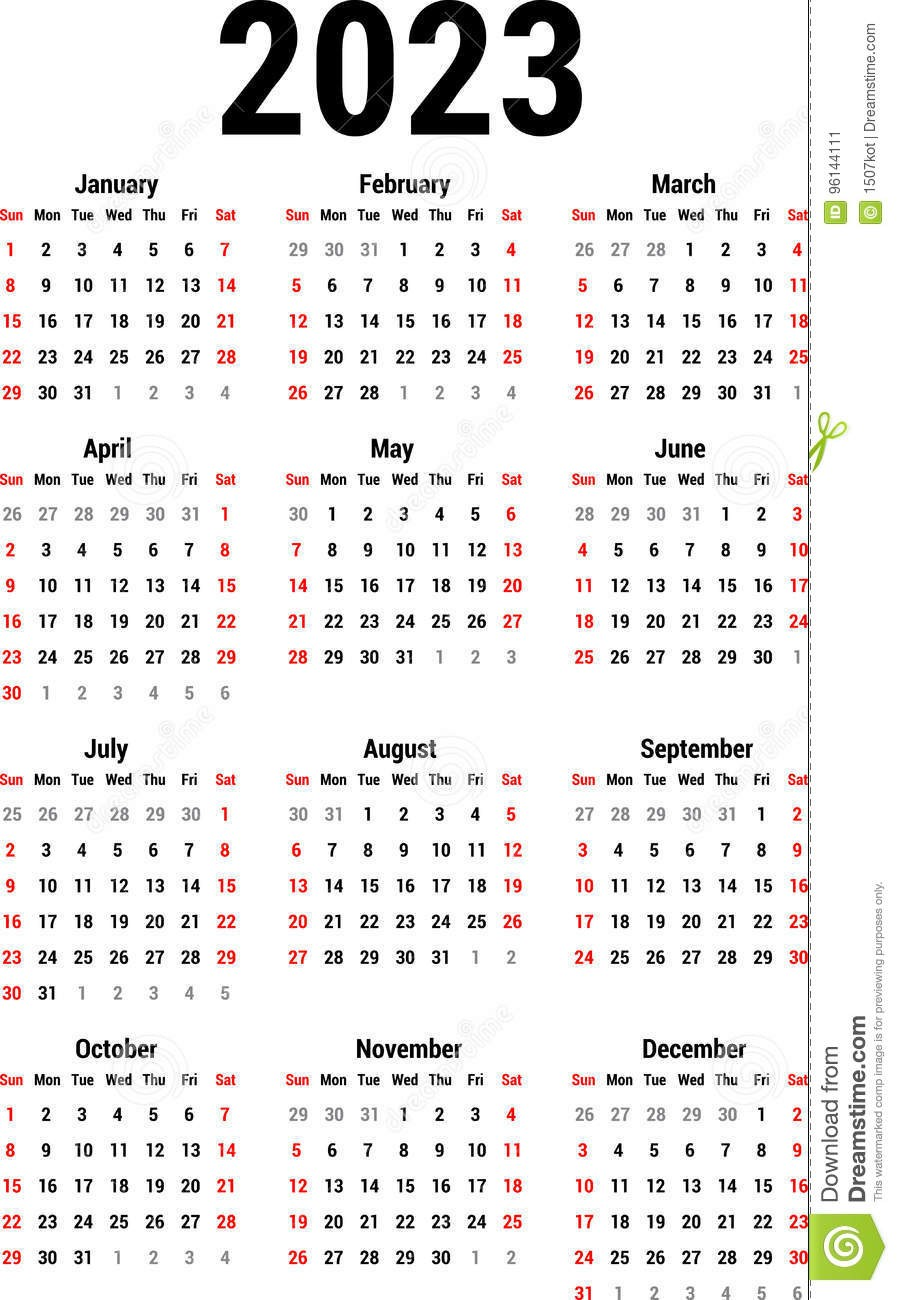 illustrazione di stock calendario per image