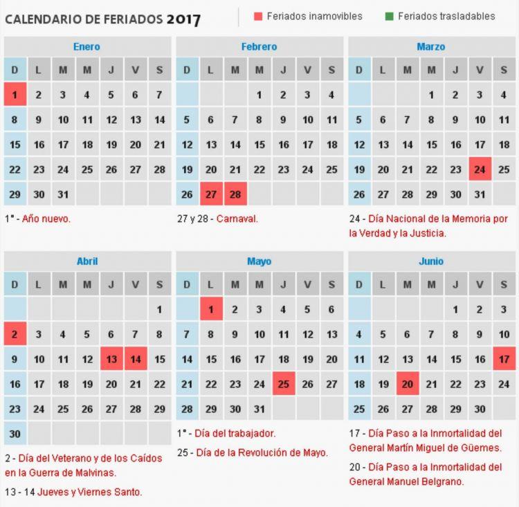 Calendario Argentina 2017 Más Populares Consultá El Calendario De Feriados 2017 De La Argentina