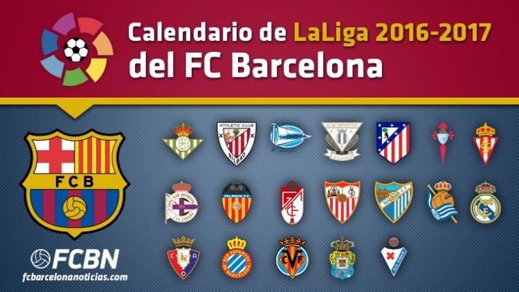 Calendario Barca Más Populares Este Es El Calendario De Liga 2016 17 Del Fc Barcelona