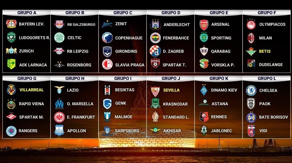 calendario europa league 2018 2019 fixture pleto