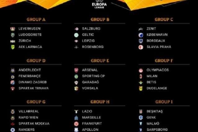 europa league 2018 19 calendario con date e orari delle partite di lazio e milan