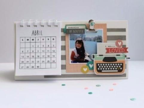 instrucciones de o hacer un calendario con fotos