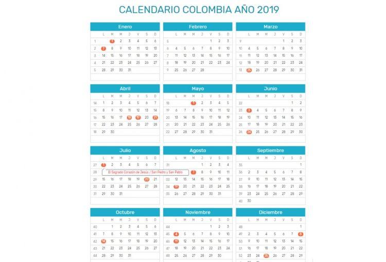 Calendario Con Festivos Mejores Y Más Novedosos Menos Festivos Para El 2019