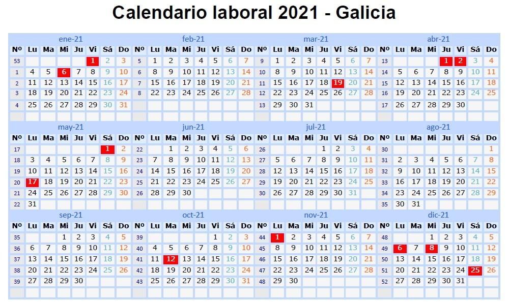 calendario laboral de la provincia de ourense para el ano 2021 barbadas