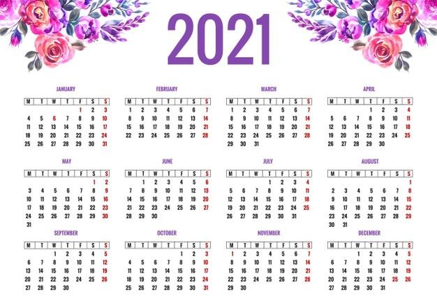 calendario 2021 imprimir