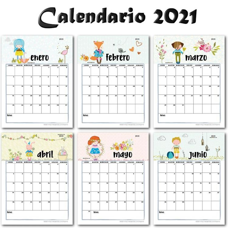 Calendario De 2021 Mejores Y Más Novedosos Calendario 2021 Pdf Bonito