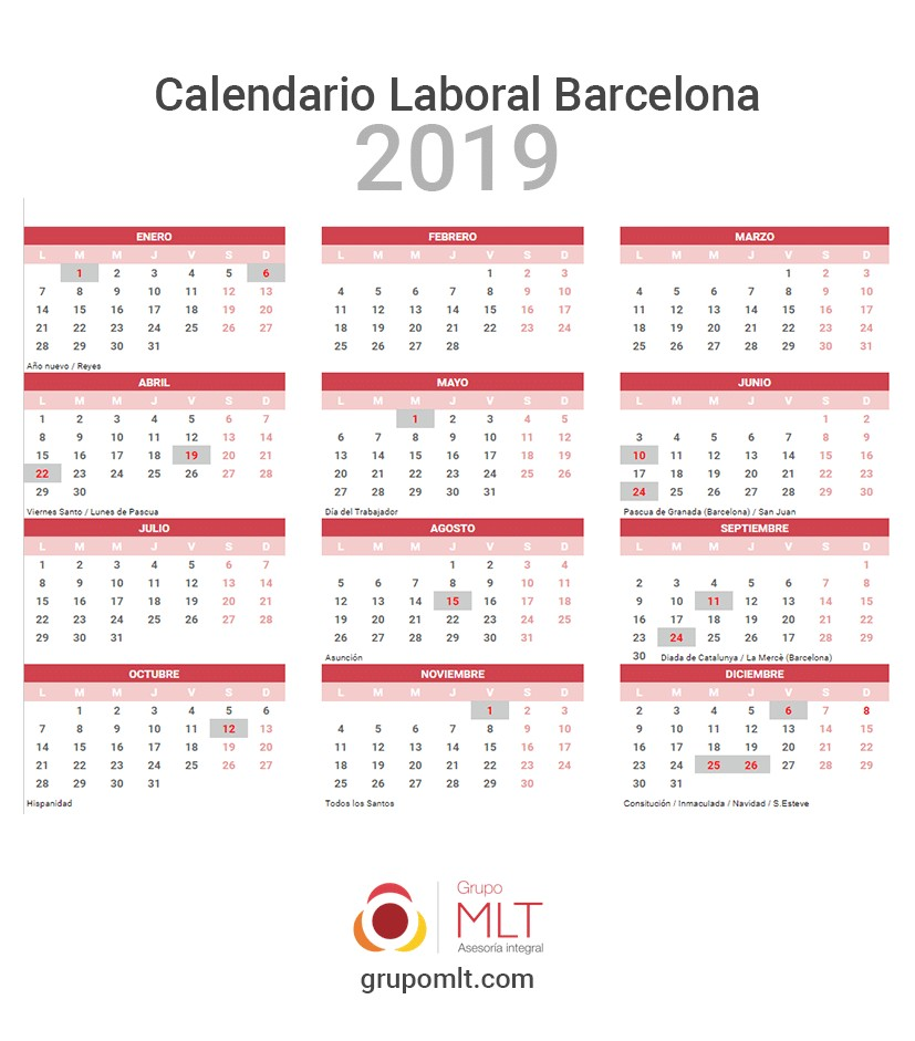calendario 2020 barcelona laboral