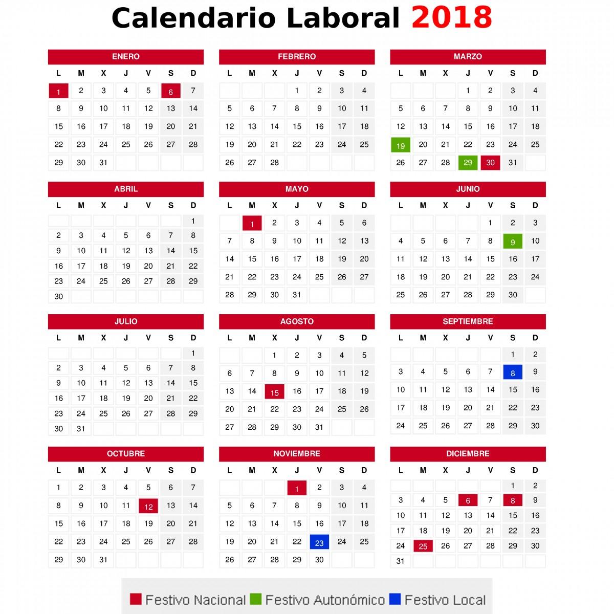 calendario laboral lorca