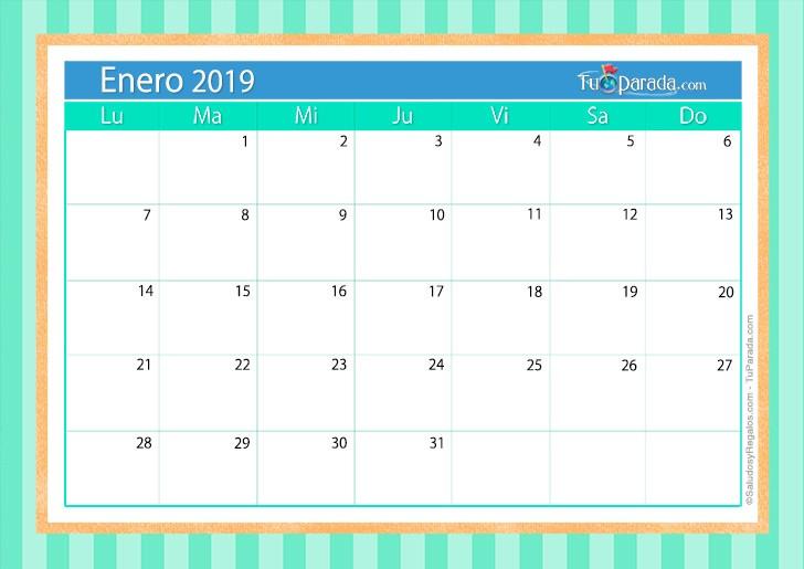 Calendario De Enero Y Febrero Para Imprimir 2019 Más Recientes Tarjetas De Calendario Deco 2019 Postales De Calendario