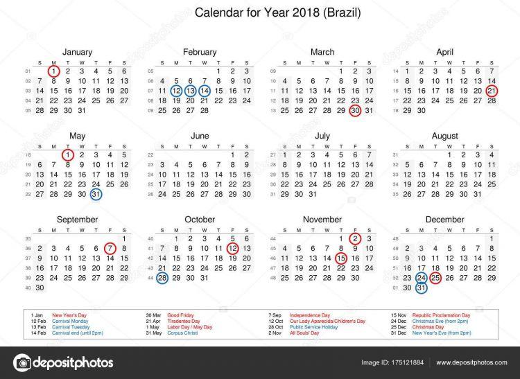 Calendario Del Ano 2018 Más Recientes Calendario Del Año 2018 Con Festivos Y Puentes De — Foto