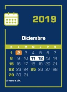 Calendario Dic 2017 Más Arriba-a-fecha Calendario Individual 2019 Dic Rosgan