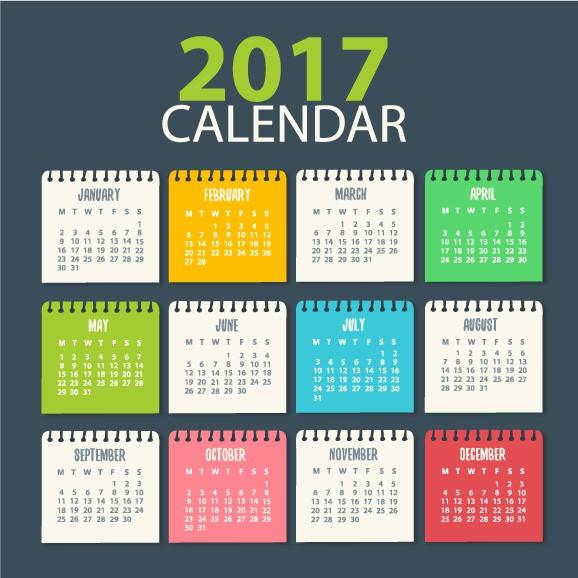 calendario calendar 2017