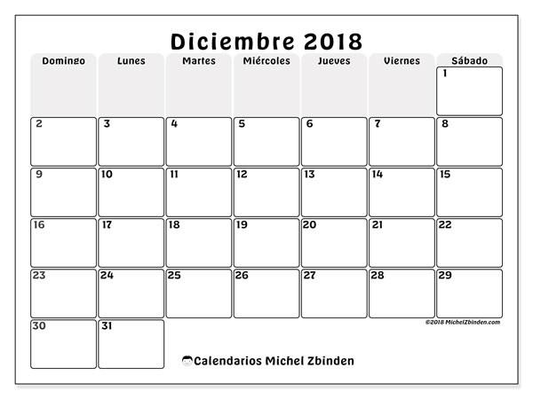 calendario diciembre 2018 44ds