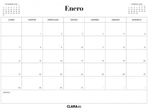 Calendario Enero 2019 Pdf Más Actual Calendario Enero 2019 Para Imprimir Gratis En Pdf Y