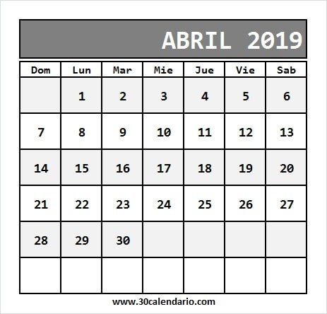 Calendario Enero A Abril 2019 Actual Blanco Calendario Abril 2019 Chile Con Feriados Para Imprimir